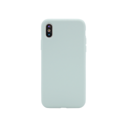 Apple iPhone X/XS - Silikonski ovitek (liquid silicone) - Soft - Sky Blue