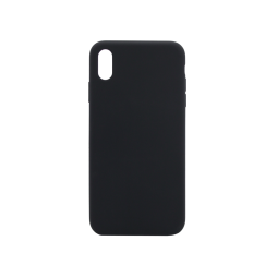 Apple iPhone XS Max - Silikonski ovitek (liquid silicone) - Soft - Black