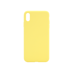 Apple iPhone XS Max - Silikonski ovitek (liquid silicone) - Soft - Light Yellow