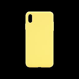 Apple iPhone XS Max - Silikonski ovitek (liquid silicone) - Soft - Light Yellow