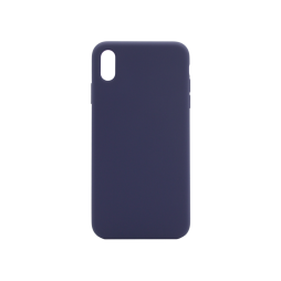 Apple iPhone XS Max - Silikonski ovitek (liquid silicone) - Soft - Midnight Blue