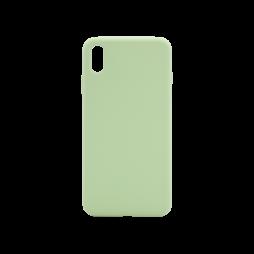 Apple iPhone XS Max - Silikonski ovitek (liquid silicone) - Soft - Mint Green