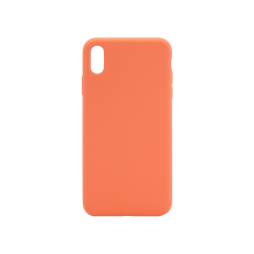 Apple iPhone XS Max - Silikonski ovitek (liquid silicone) - Soft - Nectarine