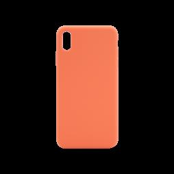 Apple iPhone XS Max - Silikonski ovitek (liquid silicone) - Soft - Nectarine