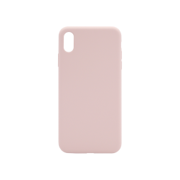 Apple iPhone XS Max - Silikonski ovitek (liquid silicone) - Soft - Pink Sand