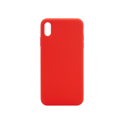 Apple iPhone XS Max - Silikonski ovitek (liquid silicone) - Soft - Red