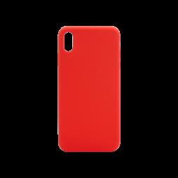 Apple iPhone XS Max - Silikonski ovitek (liquid silicone) - Soft - Red
