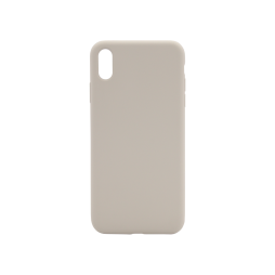 Apple iPhone XS Max - Silikonski ovitek (liquid silicone) - Soft - Stone
