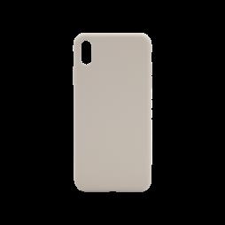 Apple iPhone XS Max - Silikonski ovitek (liquid silicone) - Soft - Stone