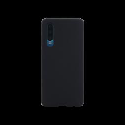 Huawei P30 - Silikonski ovitek (liquid silicone) - Soft - Black