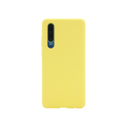 Huawei P30 - Silikonski ovitek (liquid silicone) - Soft - Light Yellow
