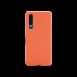 Huawei P30 - Silikonski ovitek (liquid silicone) - Soft - Nectarine