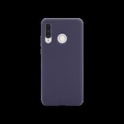 Huawei P30 Lite - Silikonski ovitek (liquid silicone) - Soft - Midnight Blue