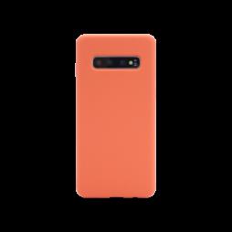 Samsung Galaxy S10 - Silikonski ovitek (liquid silicone) - Soft - Nectarine