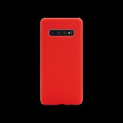 Samsung Galaxy S10 - Silikonski ovitek (liquid silicone) - Soft - Red