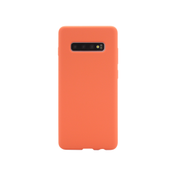 Samsung Galaxy S10+ - Silikonski ovitek (liquid silicone) - Soft - Nectarine