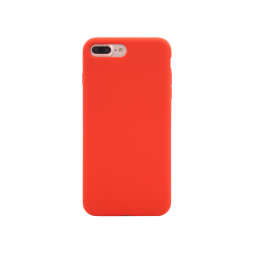 Apple iPhone 7 Plus / 8 Plus - Silikonski ovitek (liquid silicone) - Soft - Red