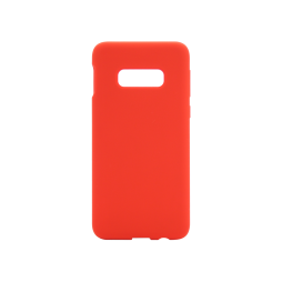 Samsung Galaxy S10e - Silikonski ovitek (liquid silicone) - Soft - Red