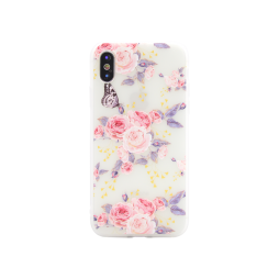 Apple iPhone X/XS - Gumiran ovitek (TPUP) - Pink Roses