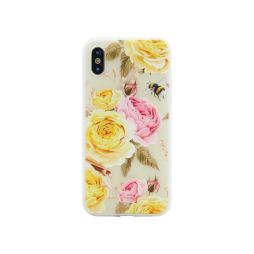 Apple iPhone X/XS - Gumiran ovitek (TPUP) - Yellow Roses