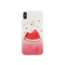 Apple iPhone X/XS - Gumiran ovitek (TPUP) - Watermelon