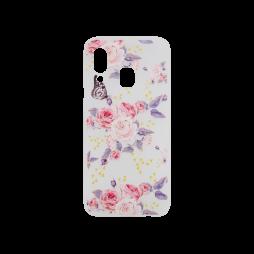 Samsung Galaxy A40 - Gumiran ovitek (TPUP) - Pink Roses