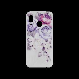 Samsung Galaxy A40 - Gumiran ovitek (TPUP) - Purple Roses