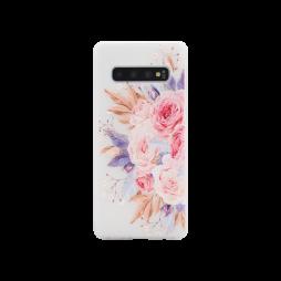 Samsung Galaxy S10 - Gumiran ovitek (TPUP) - Pink Roses