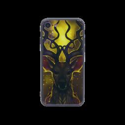 Apple iPhone 7/8/SE (2020) - Ovitek iz gume in stekla (TPUG) - Deer (shiny blue)
