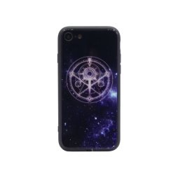 Apple iPhone 7/8/SE (2020) - Ovitek iz gume in stekla z lučko (TPUG) - Circle (light)