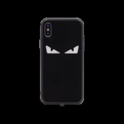 Apple iPhone X/XS - Ovitek iz gume in stekla z lučko (TPUG) - Eyes (light)