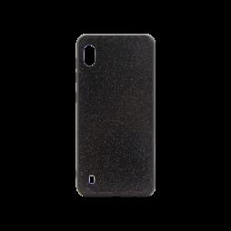 Samsung Galaxy A10 - Gumiran ovitek z bleščicami (PCB) - črna