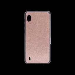 Samsung Galaxy A10 - Gumiran ovitek z bleščicami (PCB) - roza-zlata