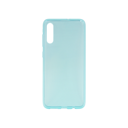 Samsung Galaxy A70 - Gumiran ovitek (TPU) - turkizno-prosojen svetleč