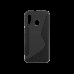 Samsung Galaxy A20e - Gumiran ovitek (TPU) - črn CS-Type