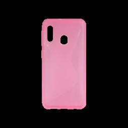 Samsung Galaxy A20e - Gumiran ovitek (TPU) - roza-prosojen CS-Type