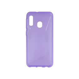 Samsung Galaxy A20e - Gumiran ovitek (TPU) - vijolično-prosojen CS-Type