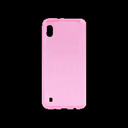 Samsung Galaxy A10 - Gumiran ovitek (TPU) - roza-prosojen svetleč