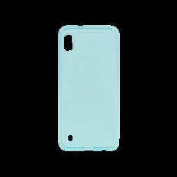Samsung Galaxy A10 - Gumiran ovitek (TPU) - turkizno-prosojen svetleč