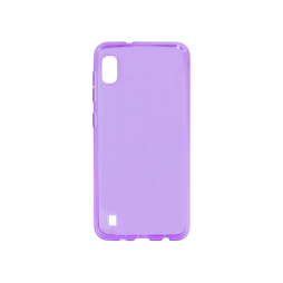 Samsung Galaxy A10 - Gumiran ovitek (TPU) - vijolično-prosojen svetleč