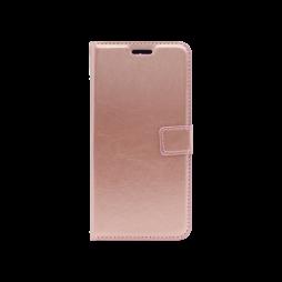 LG Q60 / K50 - Preklopna torbica (WLC) - roza-zlata