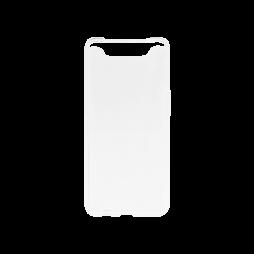 Samsung Galaxy A80 - Gumiran ovitek (TPU) - belo-prosojen svetleč