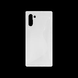 Samsung Galaxy Note 10 - Gumiran ovitek (TPU) - belo-prosojen CS-Type