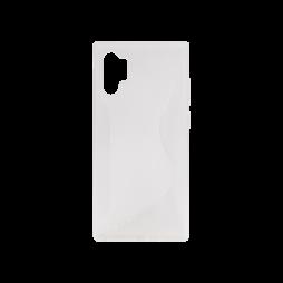 Samsung Galaxy Note 10+ - Gumiran ovitek (TPU) - belo-prosojen CS-Type