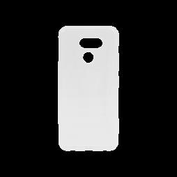 LG K50 - Gumiran ovitek (TPU) - belo-prosojen svetleč