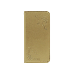 Samsung Galaxy A40 - Preklopna torbica (WLGO-Butterfly) - zlata