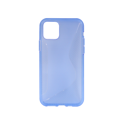 Apple iPhone 11 Pro Max - Gumiran ovitek (TPU) - modro-prosojen CS-Type