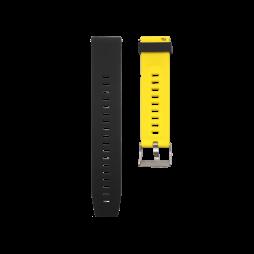 Silikonski pašček V13 (20mm) - črno rumen