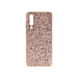Huawei P30 - Gumiran ovitek (TPUEB) - roza-zlata