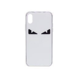 Apple iPhone X/XS - Ovitek iz gume in stekla (TPUG) - Eyes White Black